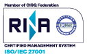 Certified management system ISO/IEC 27001